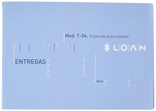 Loan T54 - Talonario, 5 unidades