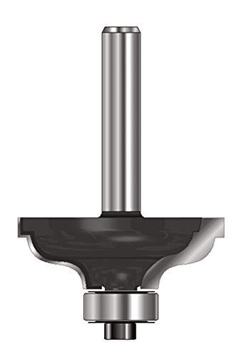 ENT 15032 Karnisfräser HW (HM), Schaft (C) 8 mm, Durchmesser (A) 41,3 mm, B 17,5 mm, R 6,35 mm, D 32 mm, mit Falz und mit Kugellager