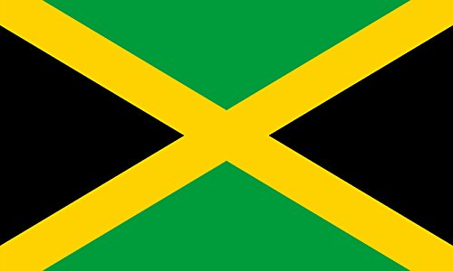 Jamaica National Polyester Flag (5 x 3 Foot) by Robelli