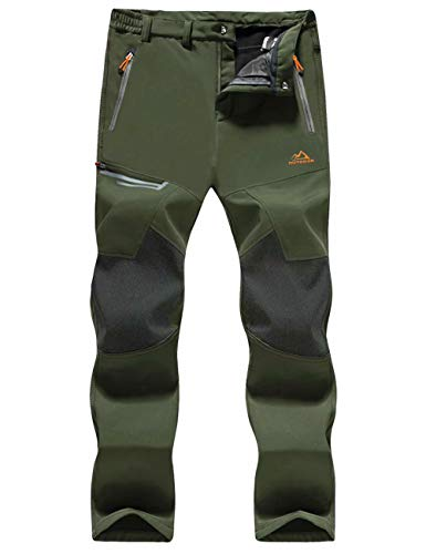 MAGCOMSEN Waterproof Pants for Men Hiking Pants Mens Work Pants Men Snow Pants Ski Pants Warm Pants Snowboard Pants Winter Pants Climbing Pants Camping Pants