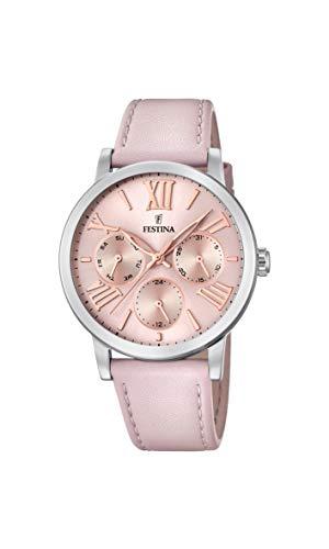 Festina Damen Analog Quarz Smart Watch Armbanduhr mit Leder Armband F20415/2