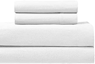 Deluxe Tradition Beautiful Heavyweight 170 GSM Warm & Super Soft Cal King Flannel Sheet Set; 100% Cotton; Cotton Flannel Sheets California King Creamy White