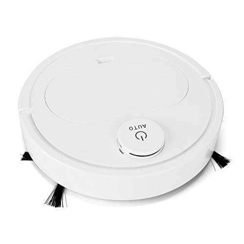 EVANA Robot Aspirador,succión de 1800 Pa Control WiFi Funciona,mapeo Inteligente,silencioso,autocargable, Robot Aspirador (Blanco-350x350x68mm)