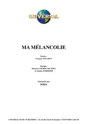 MA MELANCOLIE