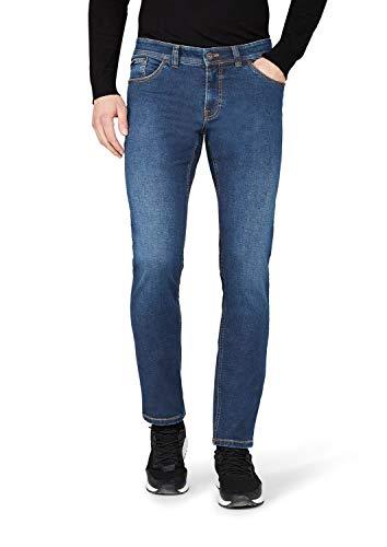 Atelier GARDEUR Herren Sandro Left Hand Twill Slim Jeans, Blau (Dunkelblau 168), W38/L32 (Herstellergröße:38/32)
