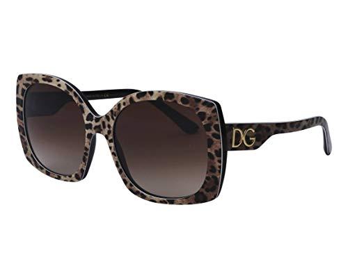 Dolce & Gabbana Occhiali da Sole PRINT FAMILY DG 4385 Leo Brown/Brown Shaded 58/18/145 donna
