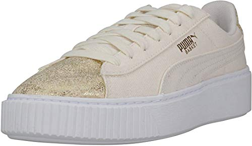Puma Sneakers Basket Platform Canvas Wn's Gold 366494-01 - 36, Oro