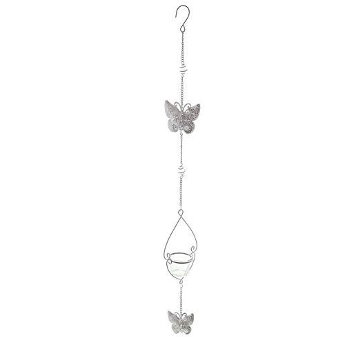 Navidad candelabro de cristal titulares de un soporte metálico colgante en forma de cercas del jardín del césped decoración de la boda de la mariposa colgantes Portacandelitas Candelabro Estatuas Deco