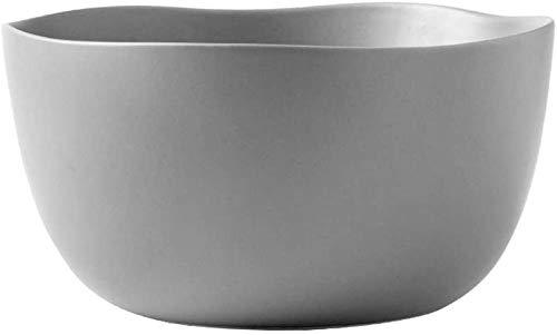 Cuenco de Ensalada Cuenco de cerámica Irregular Ramen Cuenco de Verduras de Gran Capacidad Cuenco de Ensalada de Frutas Cuenco de Sopa de Restaurante Cuenco de Postre Gris-Gris Well