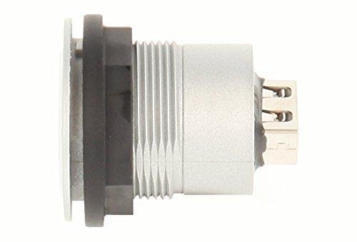 Schlegel 23.001.541 USB-Buchse silberfarben, 1x USB-Buchse Typ A, 1x USB-Buchse Typ A