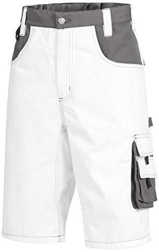 Nitras Motion TEX Plus 7603 Arbeitshosen - Shorts für die Arbeit - Weiß - 52
