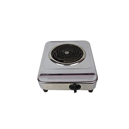H.V TRADERS 2000 Watts Solid Heavy Body Electric G Coil Cooking Stove/Heater/Hot Plate Cooking Stove/Induction Cooktop (Chrome Plated) Radiant Cooktop (Silver, Push Button) 1 year warranty
