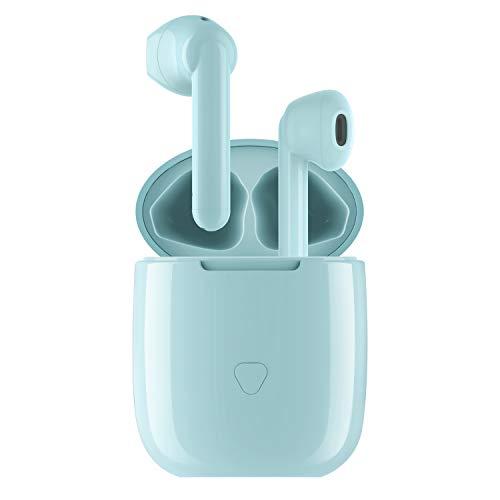SOUNDPEATS TrueAir ワイヤレスイヤホン Qualcomm® aptX™ & AAC 対応 高音質 Bluetooth イヤホン 14.2mmドライバー採用 30時間再生 Type C 充電 Bluetooth 5.0 完全ワイヤレスイヤホン QCC3020チップセット搭載 TWS Plus ワイヤードイヤホン 自動ペアリング 両耳/片耳対応 小型 防水 スポーツイヤホン サウンドピーツ フル ワイヤレス イヤホン [意匠登録証取得済、メーカー1年保証] (ブルー)