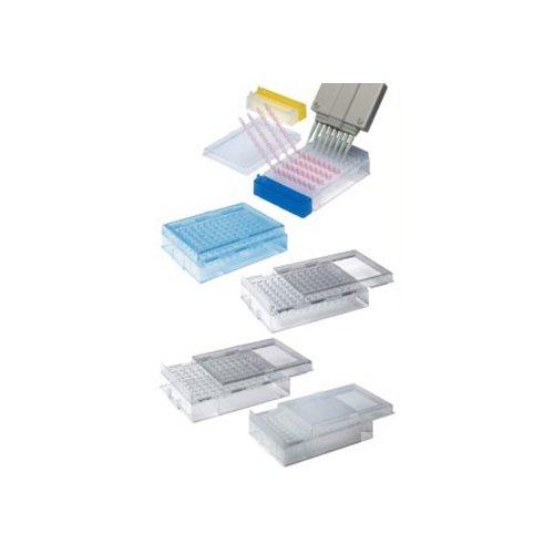 NeoLab 7-4737 PCR-rack met deksel, 96 matrix voor PCR-platen, PS, transparant (1-pack)