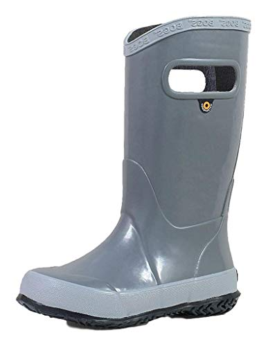 Price comparison product image BOGS Rainboot Waterproof Rubber Rain Shoe,  Gray,  5 US Unisex Big Kid