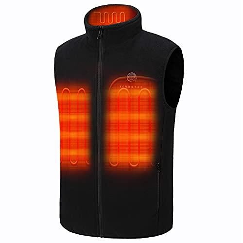 Venustas Men s Fleece Heated Vest with Battery Pack 7.4V, Lightweight insulated Electric Vest
