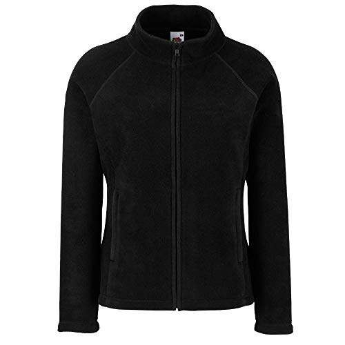 Fruit of the Loom - Lady -Fit Fleece Jacket S,Black