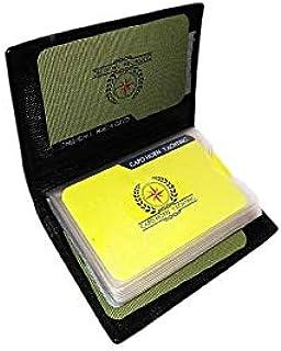 Portatarjetas de crédito y documentos de piel para hombre, color negro