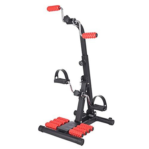 HXFENA Bicicleta Estática, Entrenador De Pies Y Manos Ajustable Móvil con Masaje, Máquina De Terapia De Entrenamiento Corporal Físico para Bicicleta De Interior