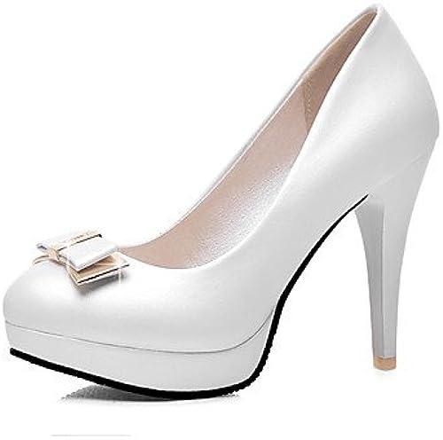 GGX  Chaussures Femme-Bureau Femme-Bureau & Travail   Décontracté-Bleu   Rose   Blanc-Talon Aiguille-Talons   Bout Arrondi-Talons-Polyuréthane  grande remise