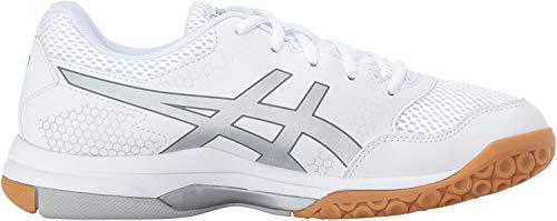 ASICS Women's Gel-Rocket 8 Volleyball Shoe, White/Silver/White, 7 Medium US