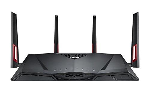 ASUS ゲーミング WiFi 無線LAN ルーター RT-AC88U 11ac デュアルバンド AC3200 2167+1000Mbps 最大21台 4LD...