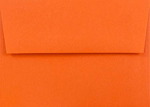 Pumpkin Orange 50 Boxed (5-1/4 x 7-1/4) A7 Envelopes for 5 X 7 Greeting Cards, Invitations, Announcements from The Envelope Gallery