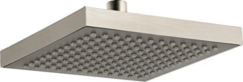 Delta Faucet Single-Spray Touch-Clean Rain Shower Head, Stainless RP50841SS