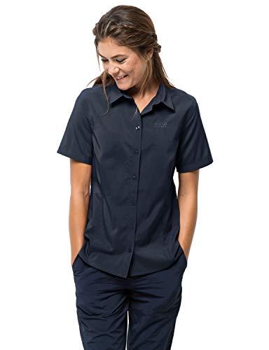 Jack Wolfskin Damen Bluse Sonora Shirt W, Midnight Blue, S, 1402382-1910002