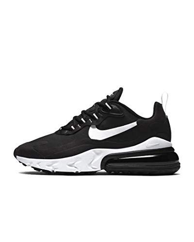 Nike Women's Air Max 270 React Running Shoes (8, Black/White-Black)