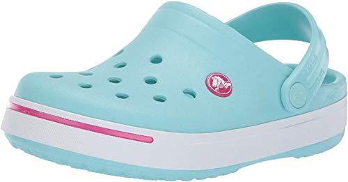 Crocs Kids Crocband II (Toddler/Little Kid) Ice Blue/Candy Pink 3 Little Kid M