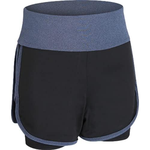 Pantalones Cortos Deportivos para Mujer Moda Casual de Cintura Alta elástico Control Abdominal Pantalones Cortos Deportivos Pantalones Cortos para Correr al Aire Libre M