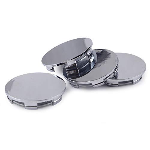 beler 4pcs Silber 60mm Auto Rad Reifen Reifen Felge Mitte Radkappen Cover Base Set
