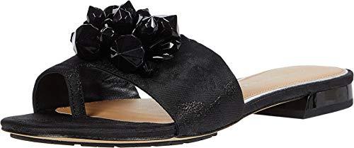 Donald J Pliner womens Flat Sandal, Black, 9 US