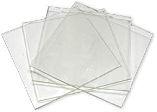 System 96 6inch Clear Glass Squares - 4 Pack