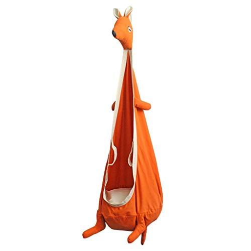 Nfudishpu Juguete para niños Canguro Niño Hamaca para niños Silla giratoria Rincón Tienda de Animales Niños Al Aire Libre Interior Columpio Paño Colgante Asiento de Regalo (Color: Naranja)