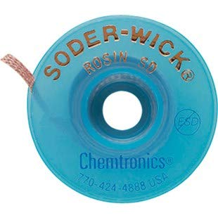 Chemtronics 80-5-10 Soder-Wick Rosin 10' .145 Braid Limited time for free shipping Weekly update Desoldering