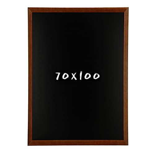 Postergaleria Kreidetafel für Wand | 70x100cm | Braun | Wandtafel aus Kiefernholz (HDF) in Schwarz | mit Kreide und Einer Schnur zum Aufhängen | für Küchen, Cafés, Geschäfte | Viele Farben | 6 Größen