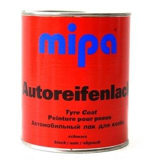 MIPA Autoreifenlack Reifenfarbe schwarz, 1Ltr.