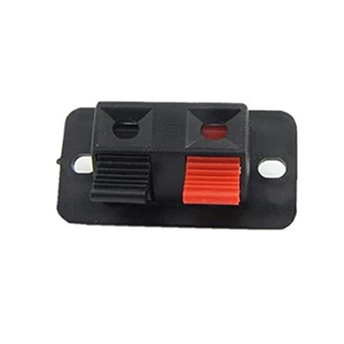 WFBD-CN Batterieklemmen 10pcs / Pack Klemmenblock Prüfclip Jointing Clamp-Stereolautsprecher Einfache Installation Verstärker-Brett-Audio-Kabel 2-Wege-Push-Stecker