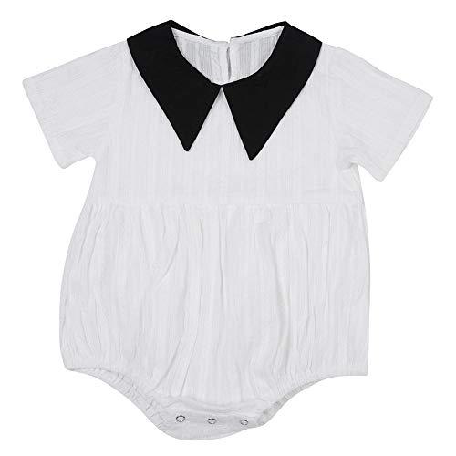 Baby Korte Mouw Romper Katoen Baby Bodysuit V-hals Outfit Doek Ademend Comfortabele Zomer Peuter Bodysuit Pasgeboren Jumpsuit voor 0-24 Maanden Jongens Meisjes