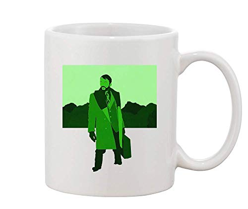 Man With A Green Jacket White Ceramic Coffee And Tea Mug