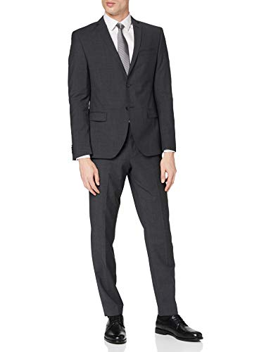 s.Oliver BLACK LABEL Herren 23707848303 Anzug, Grau (Anthracite Grey 98W1), 50