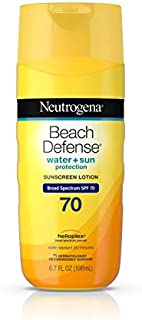Neutrogena Beach Defense Water Resistant Sunscreen Body Lotion with Broad Spectrum SPF 70