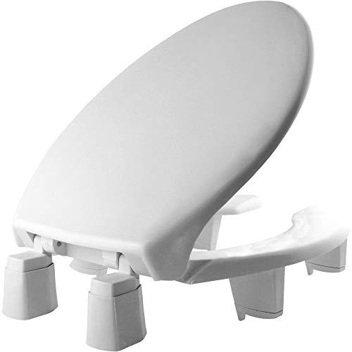 "BEMIS Independence 7YE82350TC 000 Open-Front Elevated/Raised Toilet Seat with 3"" Lift, ELONGATED, White"