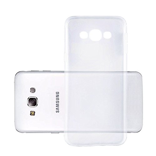 Cadorabo Hülle kompatibel mit Samsung Galaxy E5 Hülle in VOLL TRANSPARENT Handyhülle aus TPU Silikon im Ultra Slim 'AIR' Silikon Schutzhülle