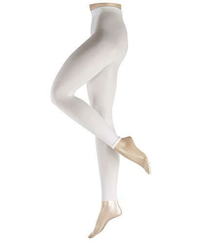 ESPRIT Damen Leggings Cotton, Baumwolle Polyamid, 1 Paar, Weiß (White 2000), S (DE 36-38)
