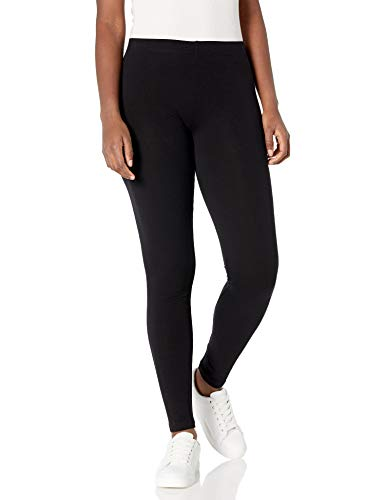 No Nonsense Women's Cotton Legging, Black, Large