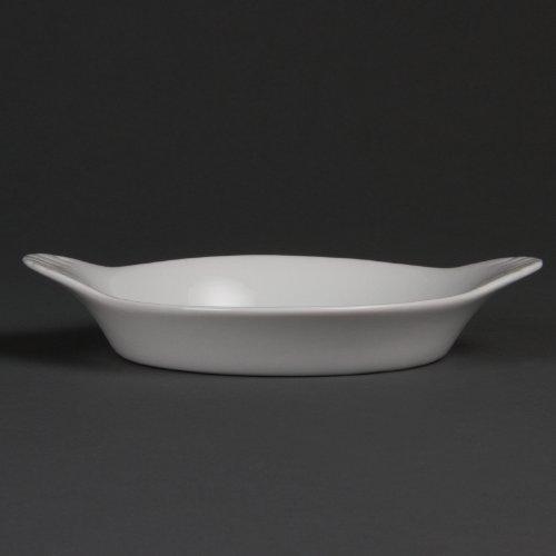 Olympia Whiteware Lot de 6 assiettes rondes en porcelaine 192 x 151 mm