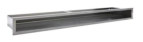 Luftleiste Lüftungsgitter Luftgitter Kamin Gitter - Graphit, verschiedene Größen 40cm 60cm 80cm 100cm